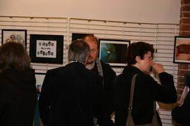 Photo de la r�ception organis�e � l�occasion du vernissage de l�exposition au CEMO